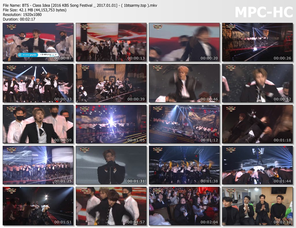 rt38 bts   class idea [2016 kbs song festival 2017.01.01]   ( 1btsarmy.top ).mkv thumbs - video /links] BTS Various Artist Song Cover Performs]